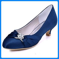Looking for Elegantpark Women Closed Toe Comfort Heel Rhinestone Satin Wedding Bridal Shoes ? Check out our picks for the Elegantpark Women Closed Toe Comfort Heel Rhinestone Satin Wedding Bridal Shoes from the popular stores - all in one. Navy Blue Dress Shoes, Navy Blue Wedding Shoes, Blue Heels, Wedding Flats, Wedding Cake, Kitten Heel Wedding Shoes, Kitten Heels, Low Heel Shoes, Pump Shoes