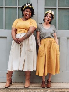 beginner sewing projects The Estuary Skirt is a beginner-friendly, body-friendly skirt pattern that you'll feel like wearing every day of the week. It comes in sizes and f Skirt Patterns Sewing, Sewing Patterns Free, Free Sewing, Clothing Patterns, Clothing Items, Skirt Sewing, Pattern Sewing, Coat Patterns, Pattern Drafting