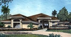 Florida   Mediterranean   House Plan 63070
