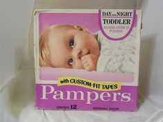 Vintage Baby--Pampers Diapers 1979. Although I'm pretty sure my mama used cloth diapers.