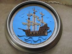 Quilled Pirate ship  made by Paula Hogue