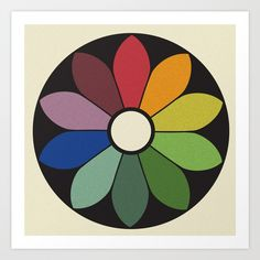 James Ward's Chromatic Circle Art Print by coloria James Ward, Circle Art, Color Harmony, Chicago Cubs Logo, Archery, Colour Wheel, Kids Rugs, Colours, Art Prints
