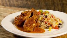 Poulet mexicain Solution Gourmande, Chicken Legs, Mexican Food Recipes, Turkey, Rice, Favorite Recipes, Meat, Cooking, Wings