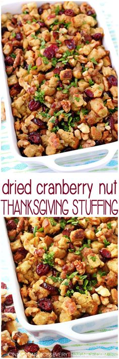 Dried Cranberry Nut Thanksgiving Stuffing                                                                                                                                                                                 More