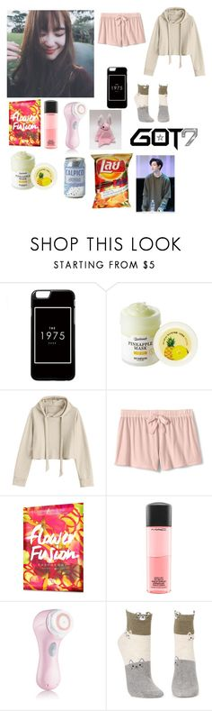 """""""Kanya sleep things!! 🍃"""" by acrylicgarden ❤ liked on Polyvore featuring beauty, Skinfood, Lands' End, Bambam, Origins, MAC Cosmetics, Clarisonic, Anthropologie and Charlotte Russe"""
