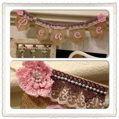 PEACE banner by Thebannergirls on Etsy, $35.00