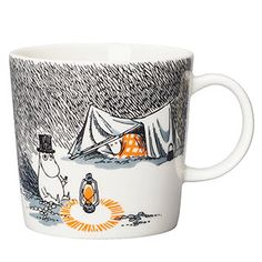 """Moomin Mugs from Arabia – A Complete Overview Sleep Well / Nuku hyvin The motif comes mainly from the story """"Moominpappa at Sea"""". The mug was released for the Moomin day of August. Moomin Books, Moomin Mugs, Les Moomins, Moomin Shop, Moomin Valley, Tove Jansson, Easy Drawings, Vignettes, How To Fall Asleep"""