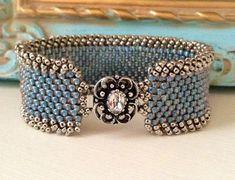 Image result for geometric peyote bracelet blue