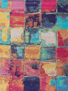 Dynasty Stockton Contemporary Abstract Area Rug-Area Rugs-Tayse Rugs-2' x 3'-Multi-Color-authenturkish