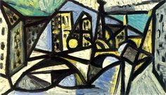 Pablo Picasso - 1944 Notre-Dame 1 | Flickr - Photo Sharing! Pablo Picasso, Kunst Picasso, Art Picasso, Picasso Paintings, Oil Paintings, Poster On, Poster Prints, Cubist Movement, Paris Painting