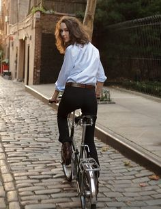 love to ride my bike and look cute!