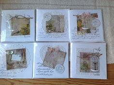 New cards for spring. Love birdcages.