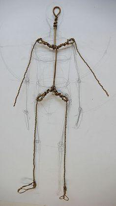 Doll making, 001 By Sen Hesse Paper Mache Crafts, Wire Crafts, Clay Crafts, Paper Mache Sculpture, Sculpture Art, Art Doll Tutorial, Art Fil, Polymer Clay Dolls, Paperclay