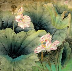 Chinese Painting: Lotus - Chinese Painting CNAG234426 - Artisoo.com
