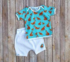 Baby Boy Cotton Summer Set Infant Boy Summer by MyBabyBeeAndMe
