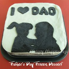Celebrate Father's Day with a Cookies and Cream Frozen Dessert by HungryHappenings.com