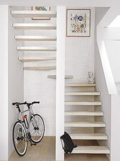 Open stairs white interiors 57 Ideas for 2019 Open Basement Stairs, Open Stairs, Home Renovation, Basement Renovations, Modern Staircase, Staircase Design, Stair Design, Floating Staircase, Staircase Ideas