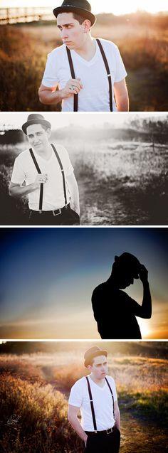 Erica Houck Photography guy photoshoot shoot session creative silhouette vintage groom senior