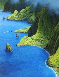 Let's go to Hawaii – the Magical Tropical Hawaiian Islands - Molokai Island, Hawaii