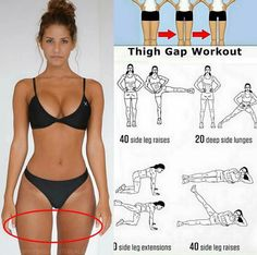 Not thigh gap workout, but great inner thigh exercises. Fitness Workouts, Sport Fitness, Body Fitness, Fitness Diet, Fitness Goals, At Home Workouts, Fitness Motivation, Health Fitness, Workout Tips