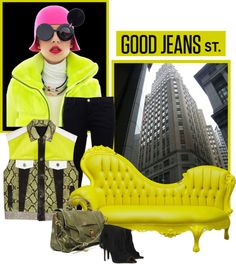 """good jeans st."" by icelle ❤ liked on Polyvore"