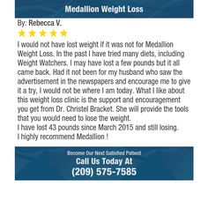 I would not have lost weight if it was not for Medallion Weight Loss. In the past I have...