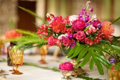 Bright and colorful table decor & florals - Anna Kim Photography -- Set, Dellables, Hotel Wailea