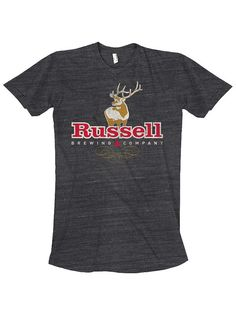 Atmosphere Design for Russell Brewing Company.  Russell Elk Logo T-Shirt.