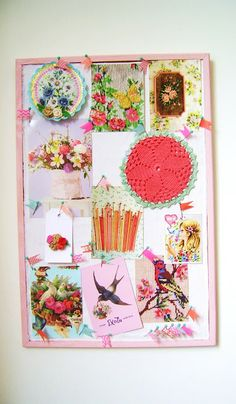 DIY; a bright neon pinboard with pretty pins-the easy way...