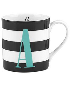 kate spade new york Mugs, Initial Mug Collection - Glassware - Dining & Entertaining - Macy's