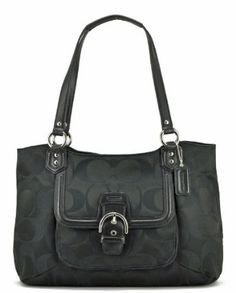 Coach 25294 Black Campbell Belle Signature Carryall Just bought this at the outlets! My first Coach bag! Love it!