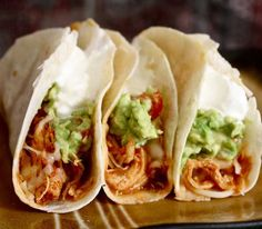 Crockpot Chicken Tacos - this looks and sounds so good