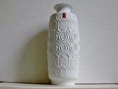Large vintage Mid modern century  AK Kaiser bisque porcelain vase West Germany. €65.00, via Etsy.