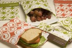 Going green....make reusable..washable sandwich bags