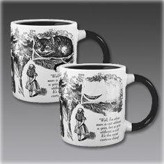Disappearing Cheshire Cat Mug - Add Coffee or Tea and The Cheshire Cat Disappears Except for its Grin - Comes in a Fun Gift Box Coffee Cups, Tea Cups, Coffee Time, Cat In Heat, Wicked, Santa Stocking, Adventures In Wonderland, Cat Mug, Through The Looking Glass