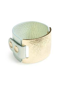 Mint + Gold Cuff