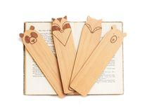 Wood Bookmarks // Laser Cut Alder Wood // Set of by LuccaWorkshop