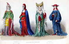 French Fashion 1350 to 1380. French fashion in the REIGNS OF JOHN AND OF CHARLES V.