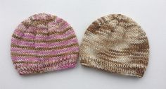 This is a pattern for a basic baby hat knit on straight needles and then seamed. it is worked in double knit yarn and will only take about 60 - 70 meters.