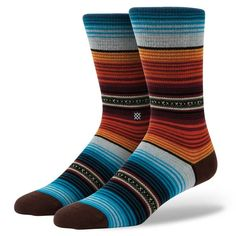 Stance | Chicano Multi, Black, Aqua, Red, Orange, Grey socks | Buy at the Official website Main Website.