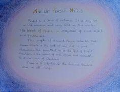 Waldorf ~ 5th grade ~ Ancient Persia ~ Ahura-Mazda ~ main lesson book