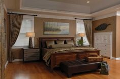 brown bedroom theme | Contemporary brown themed bedroom, Bedding, Oak floor, Faux finished ...