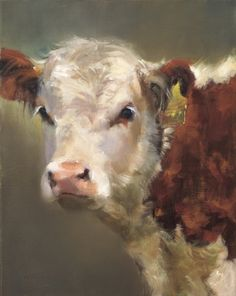 Animal Drawing BabyCakes ( 2011 American Impressionist Society National Exhibition, Sold at The Russell by Daria Shachmut Oil ~ 20 x 16 Animal Paintings, Animal Drawings, Art Drawings, Drawing Animals, Cow Painting, Painting & Drawing, Cow Drawing, Cow Pictures, Cute Cows