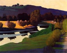 Evening on the Loire, Felix Vallotton oil painting reproduction on canvas, create oil paintings from your any images. Pierre Bonnard, Landscape Art, Landscape Paintings, Canvas Paintings, Canvas Art, Magic Realism, Realism Art, Scenery, Fine Art