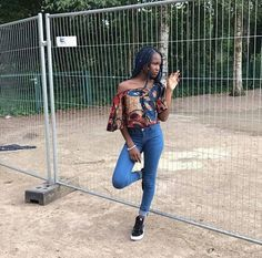 Add some sass to a simple denim outfit with an Ankara off-shoulder top like my client did.  http://ift.tt/2lUpAWK