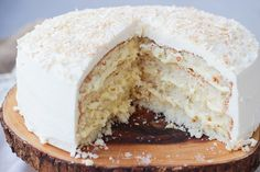 The Perfect Coconut Cream Cake