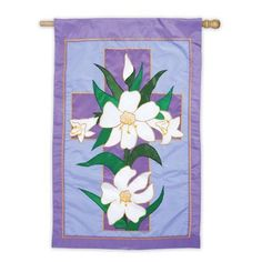 Garden Size Applique Flag Easter Morning by House-Impressions. $7.27. Weather resistant. Soft, high-quality nylon fabric. Our Evergreen double sided applique banners are made from soft highquality nylon fabric. The bold, colorful designs, highlighted by tight, boldly detailed stitching will provide long lasting enjoyment. Great idea for home, garden, or retail environments. Pole not included. See our outdoor flagpoles for hanging ideas.. Save 62% Off!
