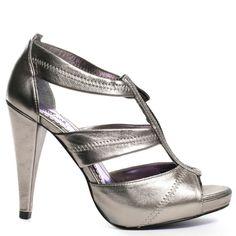 Heels I Love #heels #summer #high_heels #color #love #shoes Clarisa Heel - Pewter                      Luichiny