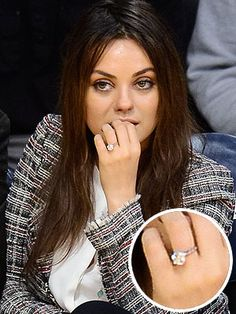 Mila Kunis's Engagement Ring From Ashton Kutcher: swooooooon