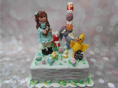 Fondant Cake Topper Sweet Easter Collaboration  by Carla Del Sasso